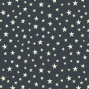 Lewis & Irene - Christmas Glow - 6705 -  Stars on Black (Glow in the Dark) - C48.3 - Cotton Fabric